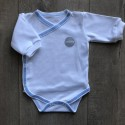 BODY wcześniak EZAZA Blue organic cotton